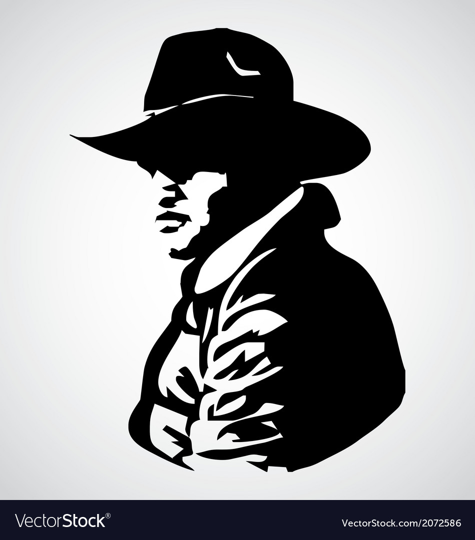 Cowboy stencil vector | Price: 1 Credit (USD $1)