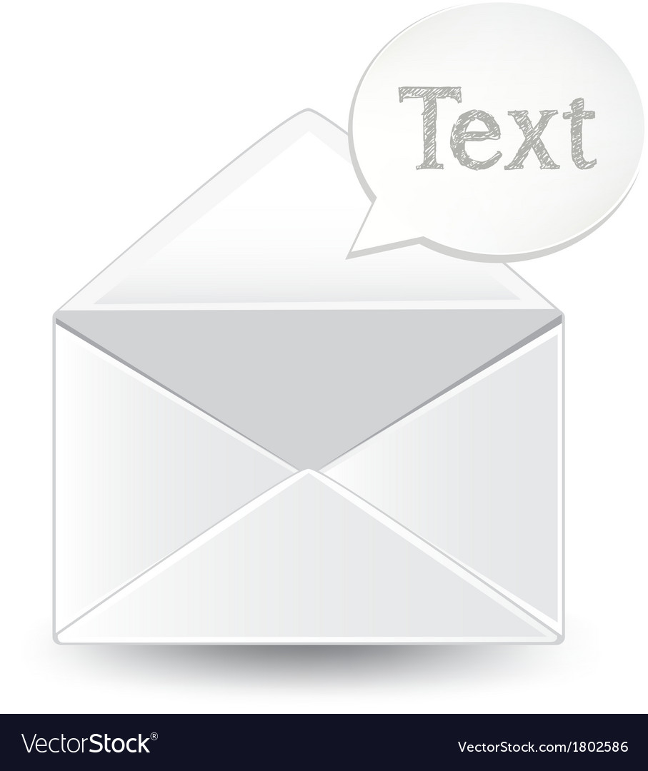 Envelope text vector | Price: 1 Credit (USD $1)