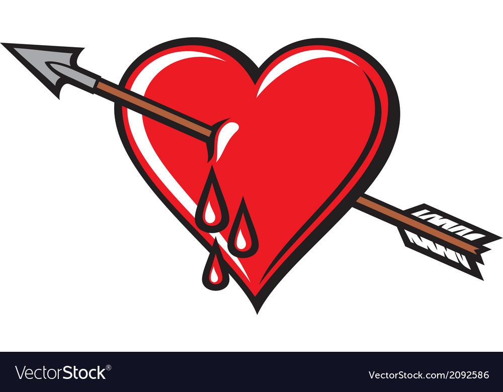 Heart with arrow design vector | Price: 1 Credit (USD $1)