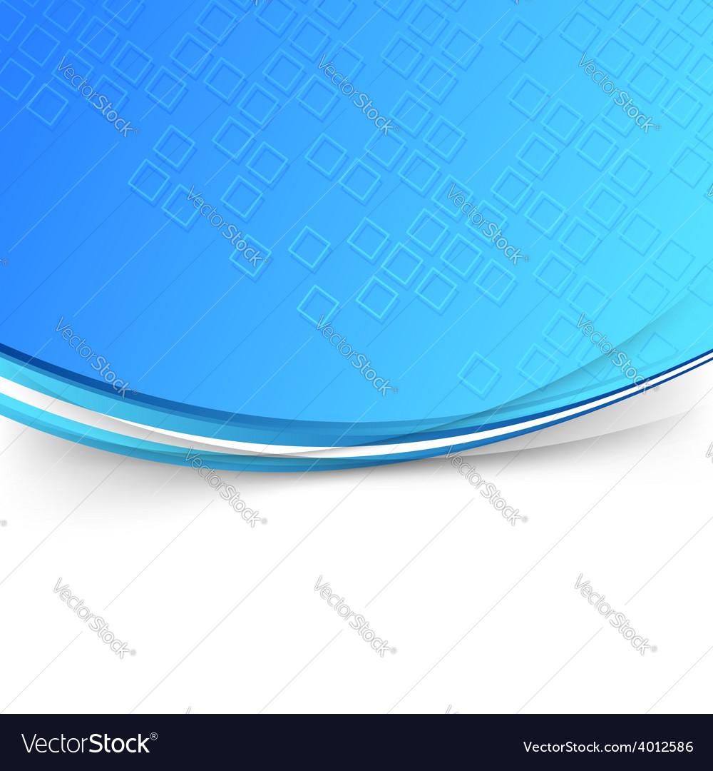 Modern blue wave folder template vector | Price: 1 Credit (USD $1)