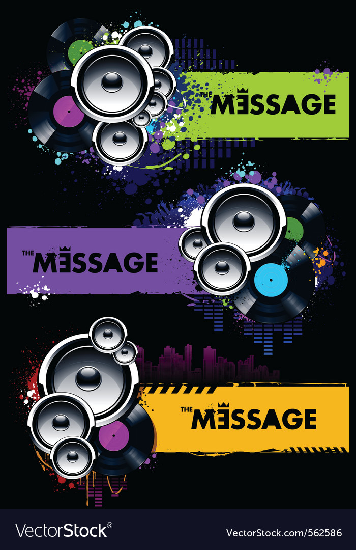 Musical banners vector | Price: 3 Credit (USD $3)