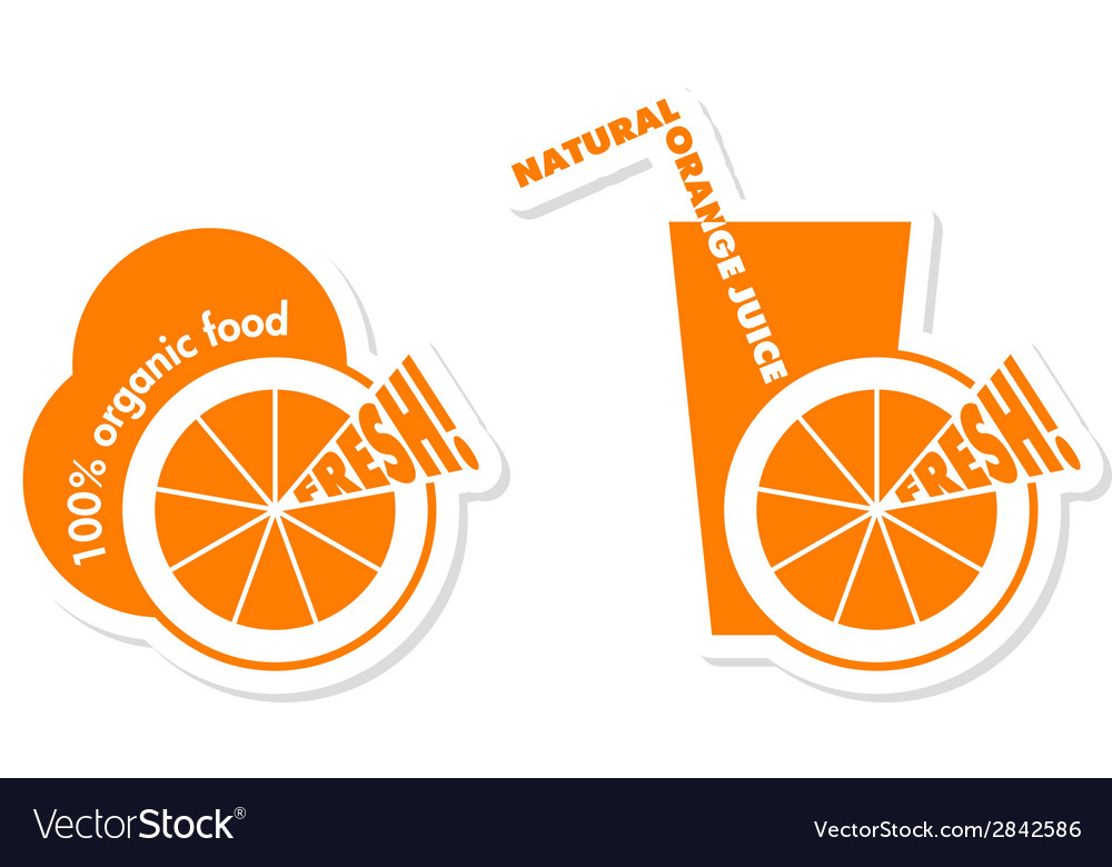 Orange labels vector | Price: 1 Credit (USD $1)