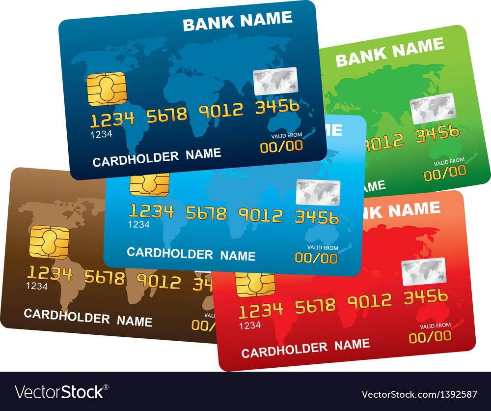 A plastic credit card vector