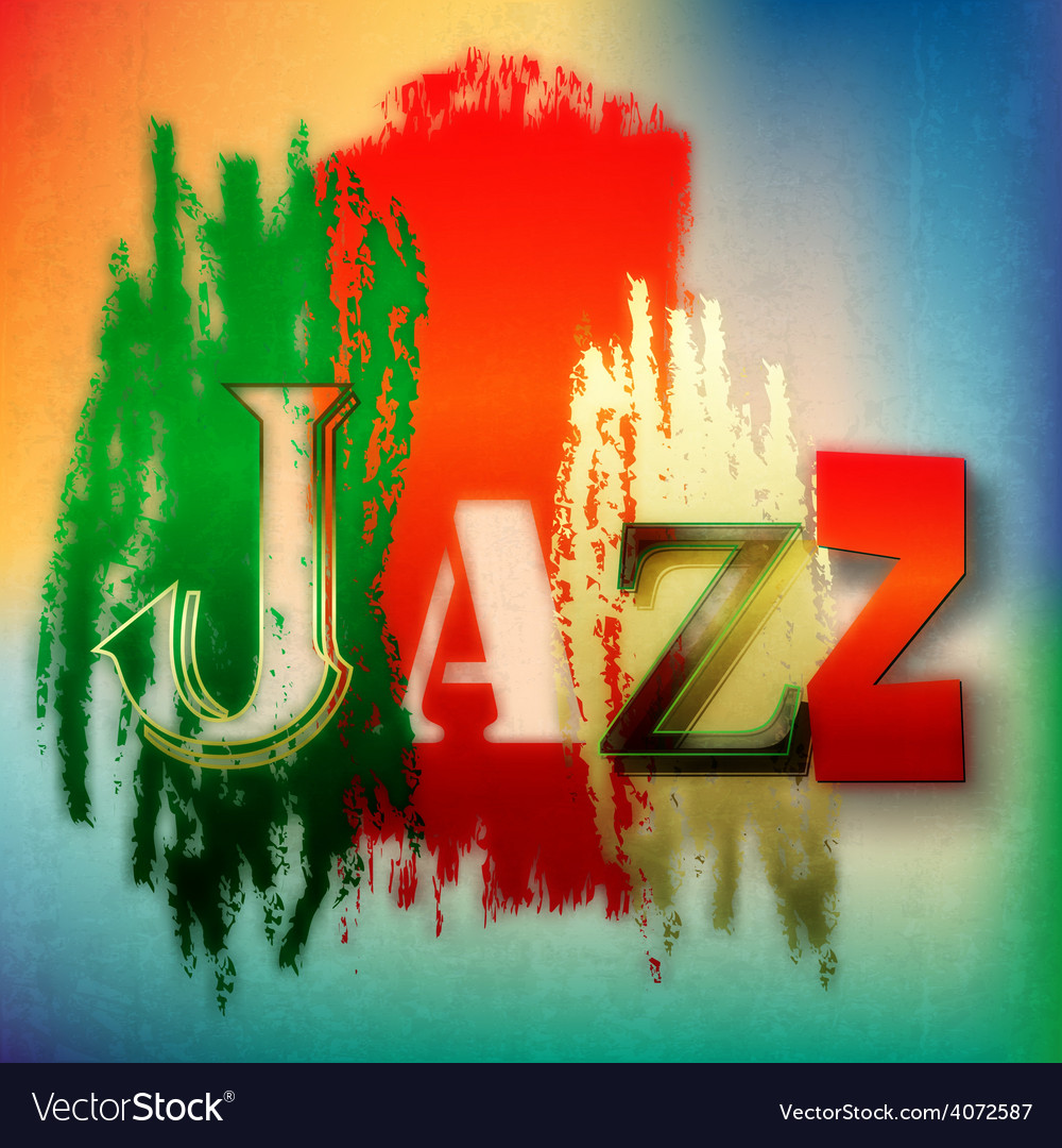 Abstract grunge background with the word jazz vector | Price: 1 Credit (USD $1)