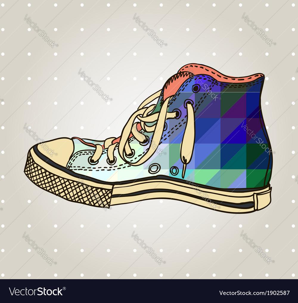 Artistic gum shoe vector | Price: 1 Credit (USD $1)