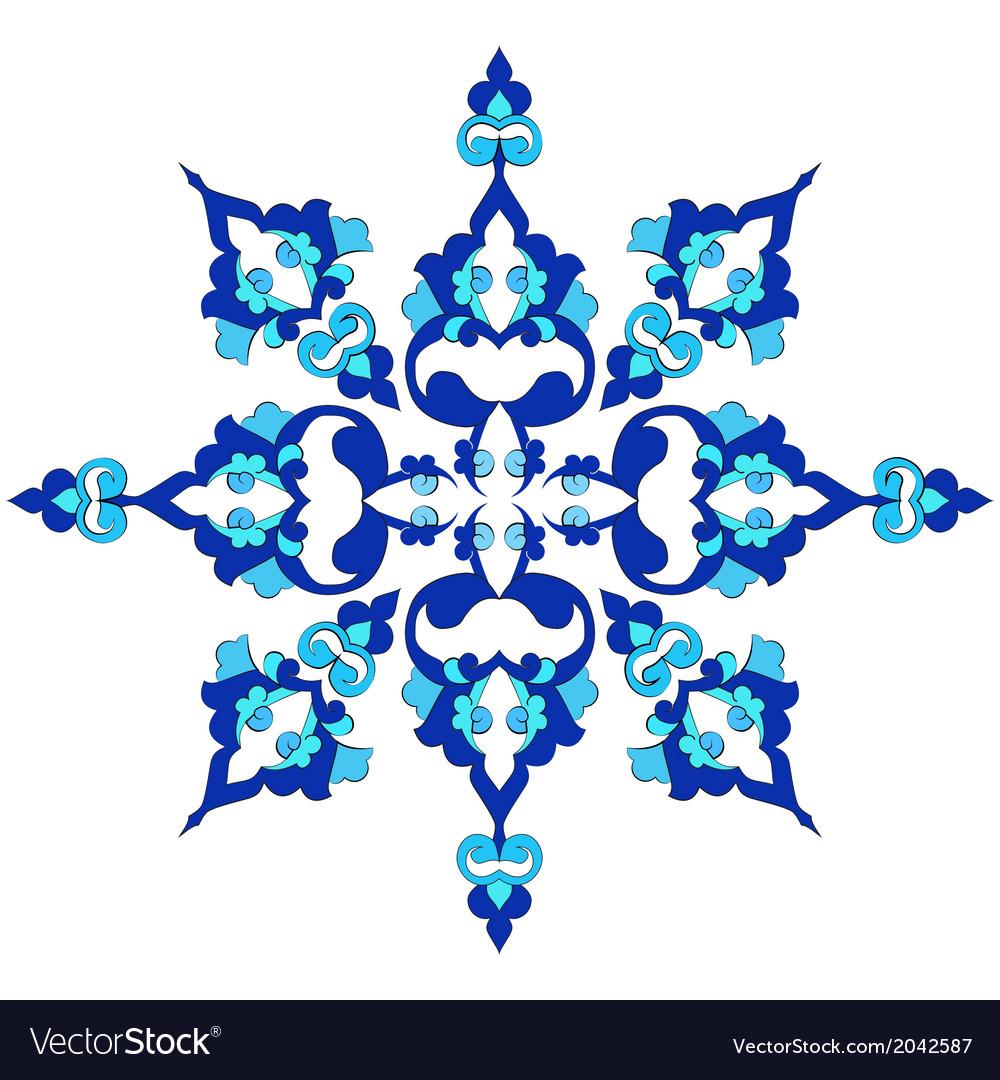 Blue oriental ottoman design twenty nine vector | Price: 1 Credit (USD $1)