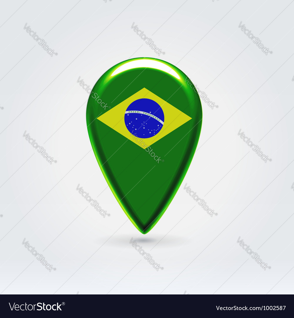Brazilian icon point for map vector | Price:  Credit (USD $)