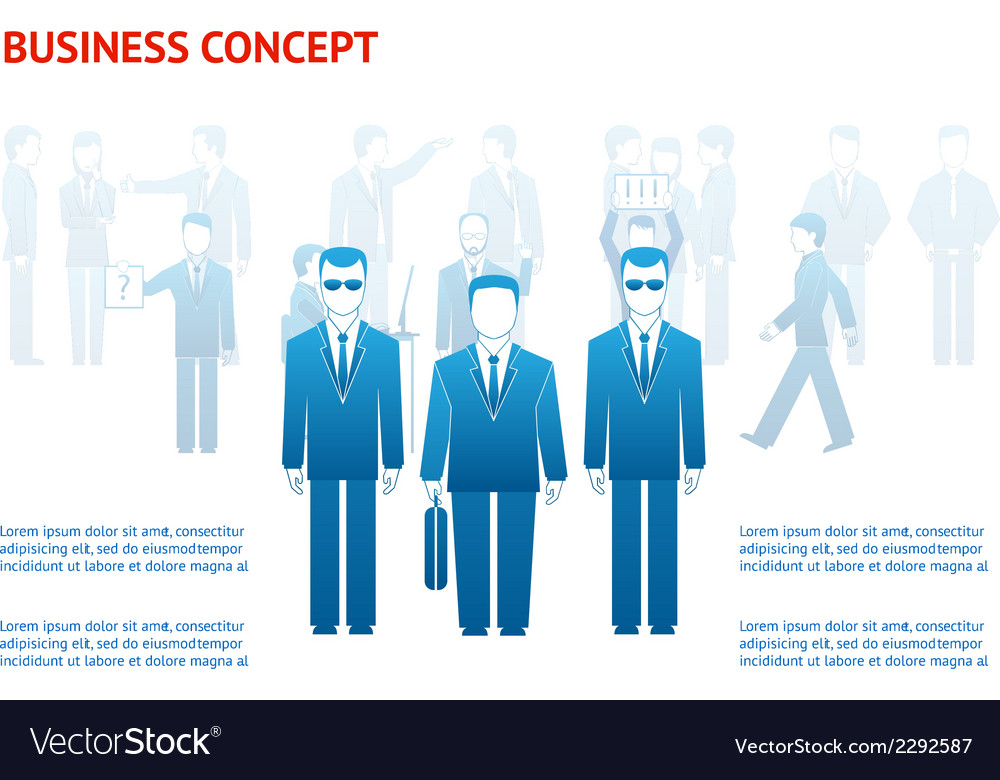 Business peoples concept vector | Price: 1 Credit (USD $1)