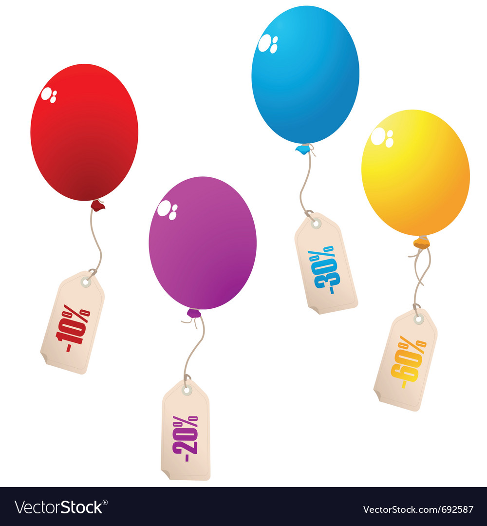 Discount balloons vector | Price: 1 Credit (USD $1)