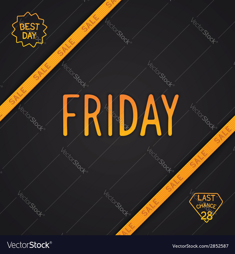 Friday lettering design vector | Price: 1 Credit (USD $1)