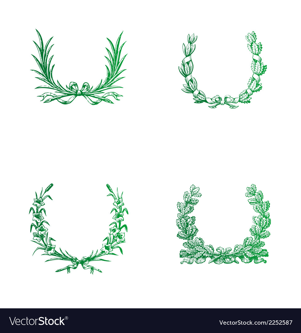 Green laurels free vector | Price: 1 Credit (USD $1)