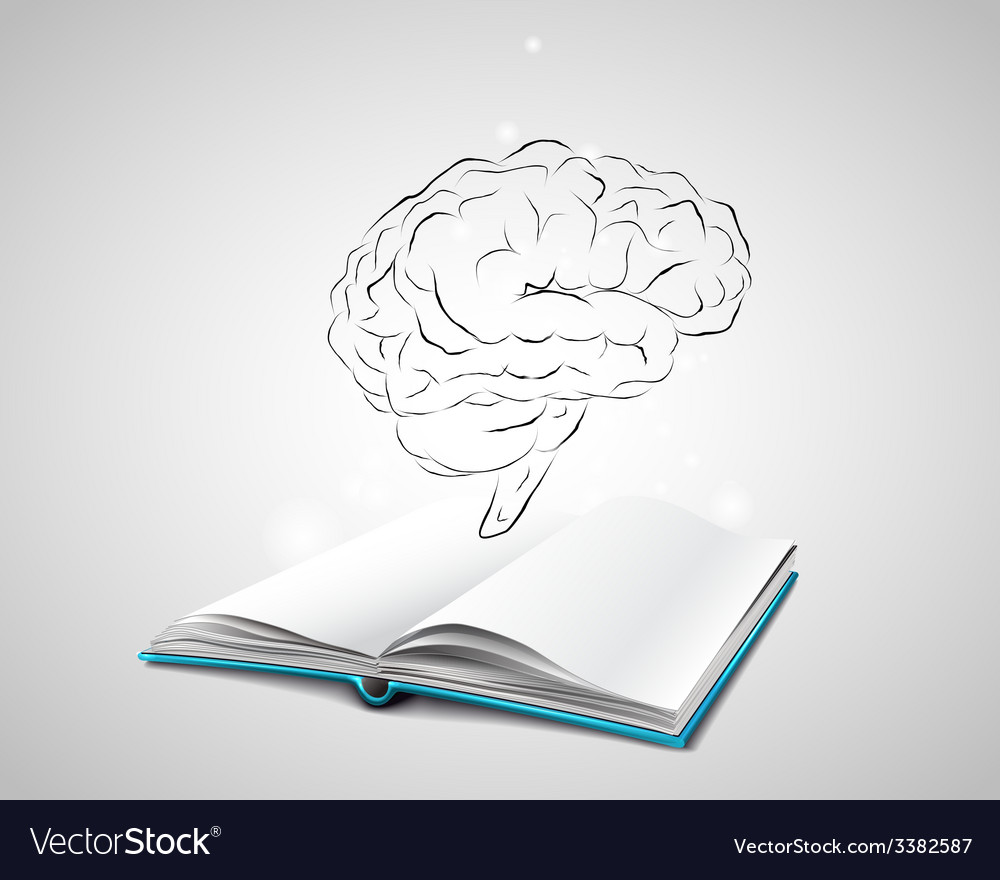 Isolated human brain sketch vector | Price: 1 Credit (USD $1)