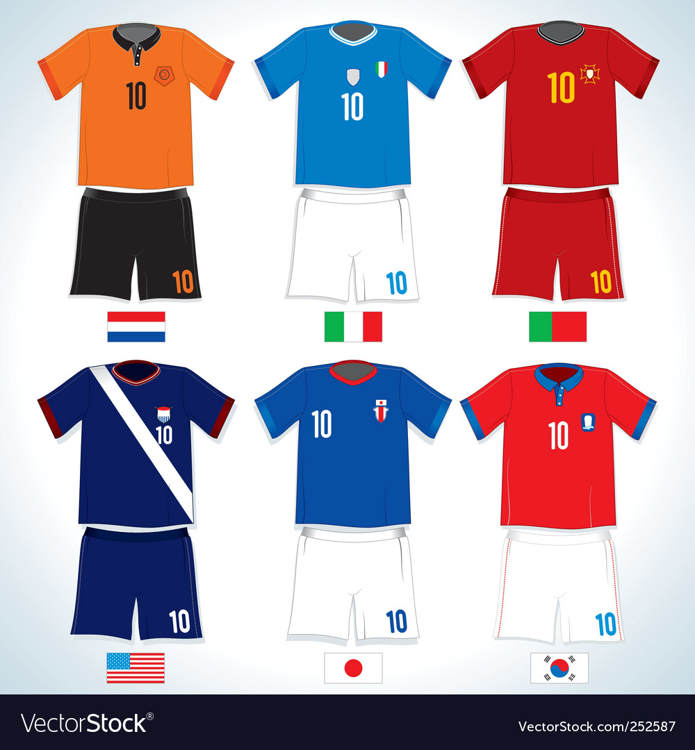 Soccer uniforms vector | Price: 3 Credit (USD $3)