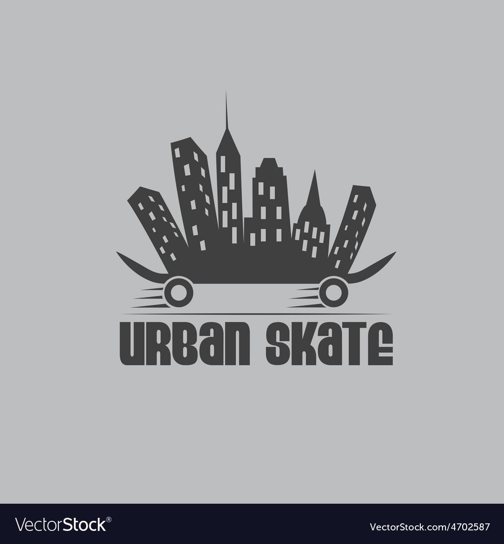 Urban skate design template vector   Price: 1 Credit (USD $1)