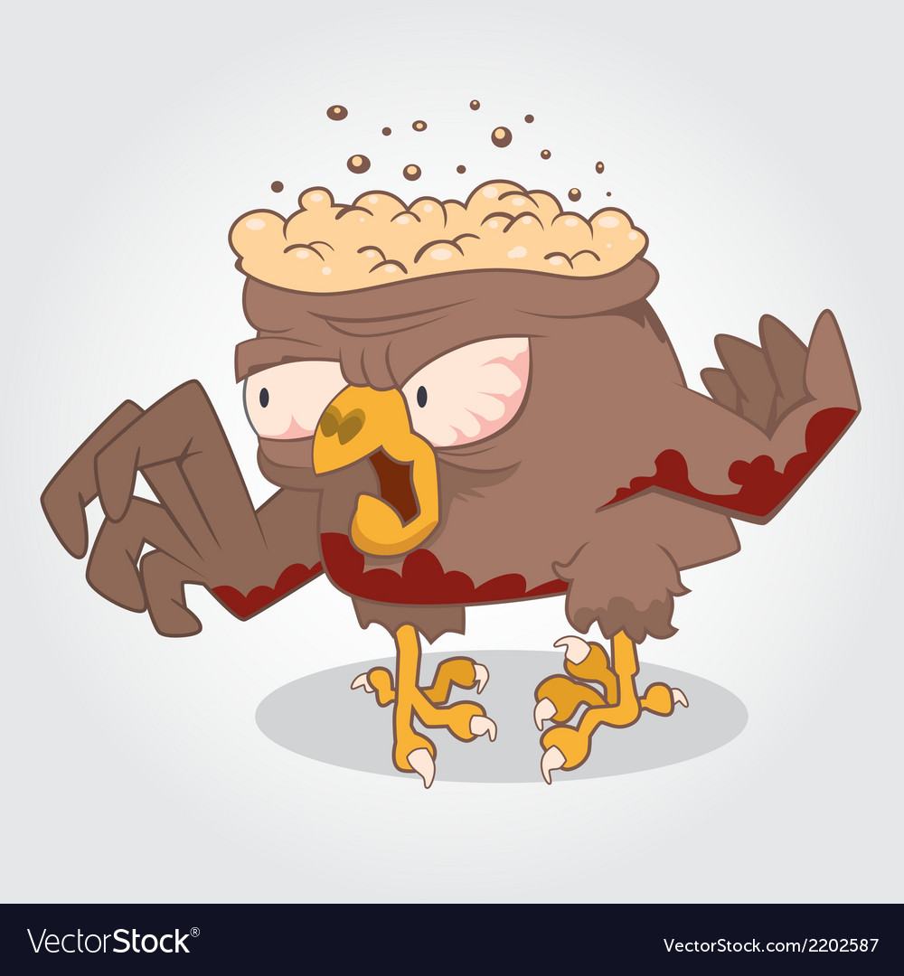 Zombie bird vector | Price: 1 Credit (USD $1)