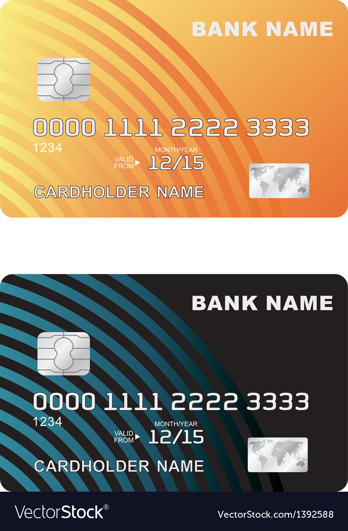 A plastic credit card vector | Price: 1 Credit (USD $1)