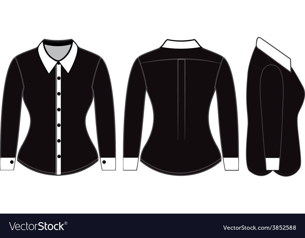 Blank shirt with long sleeves template vector | Price: 1 Credit (USD $1)