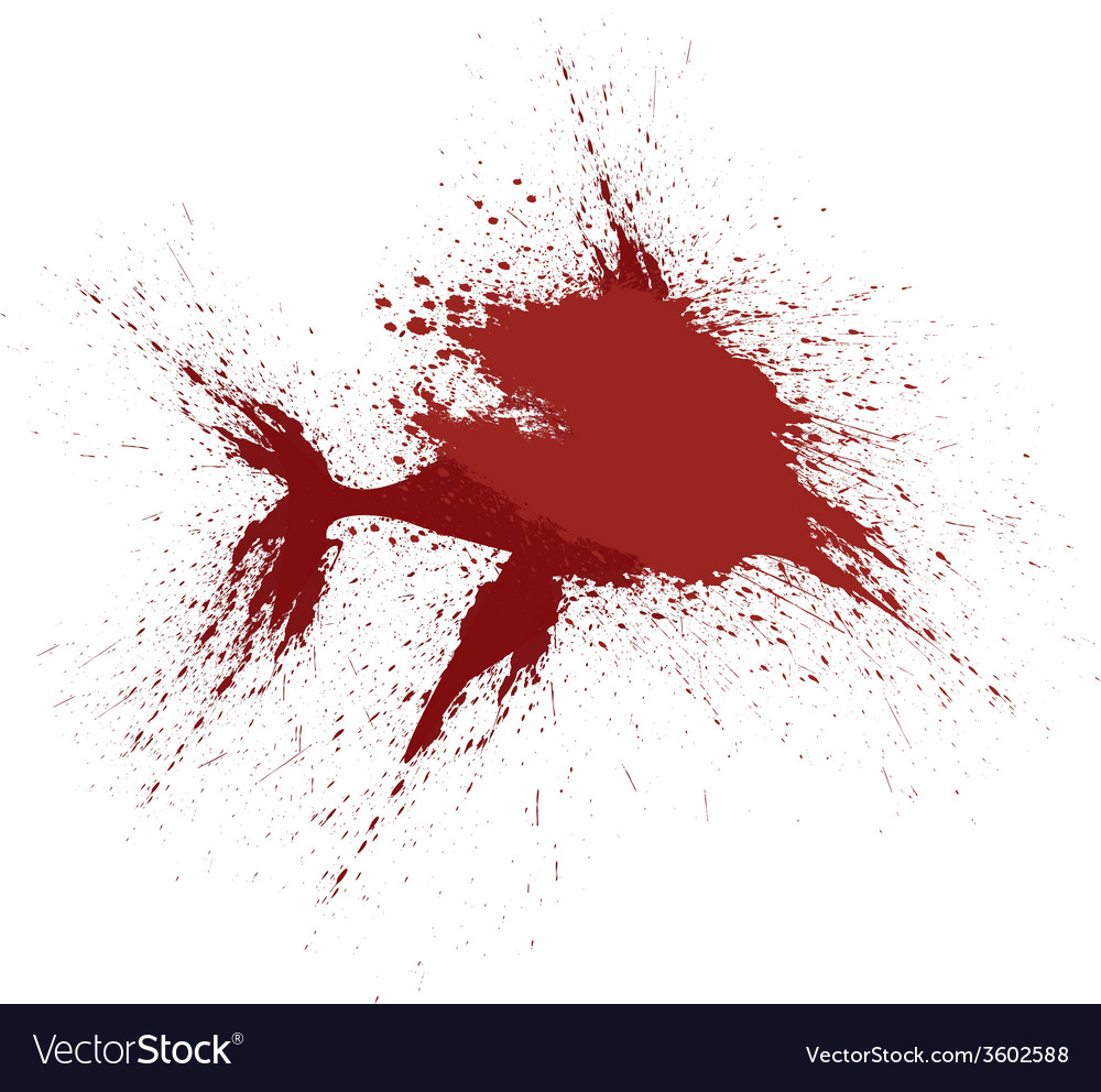 Blood splatter shark graphic vector | Price: 1 Credit (USD $1)