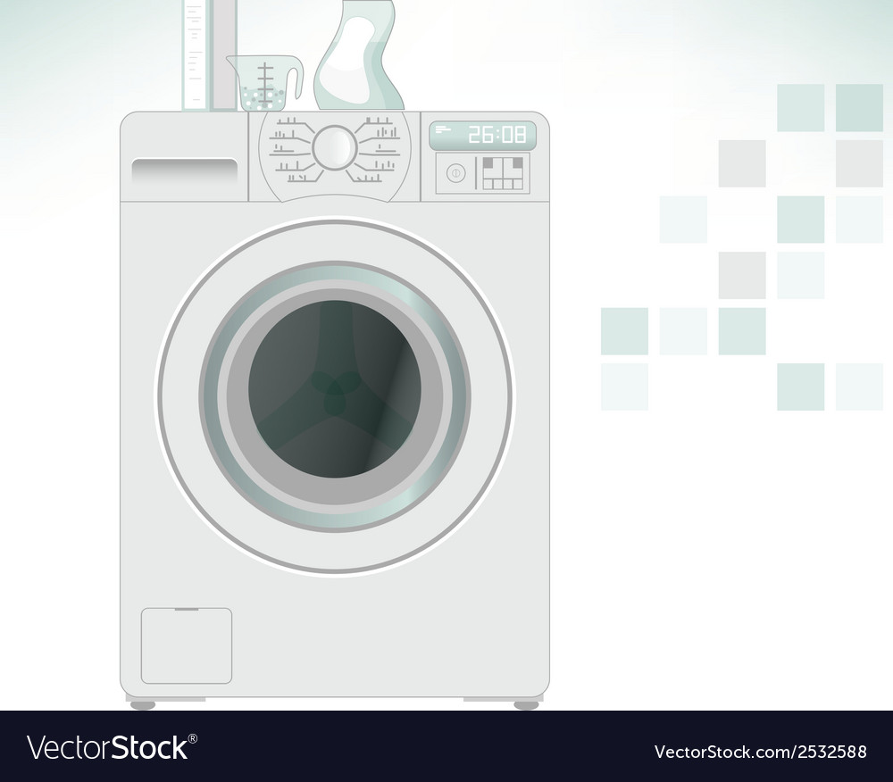 Clothes washer vector | Price: 1 Credit (USD $1)
