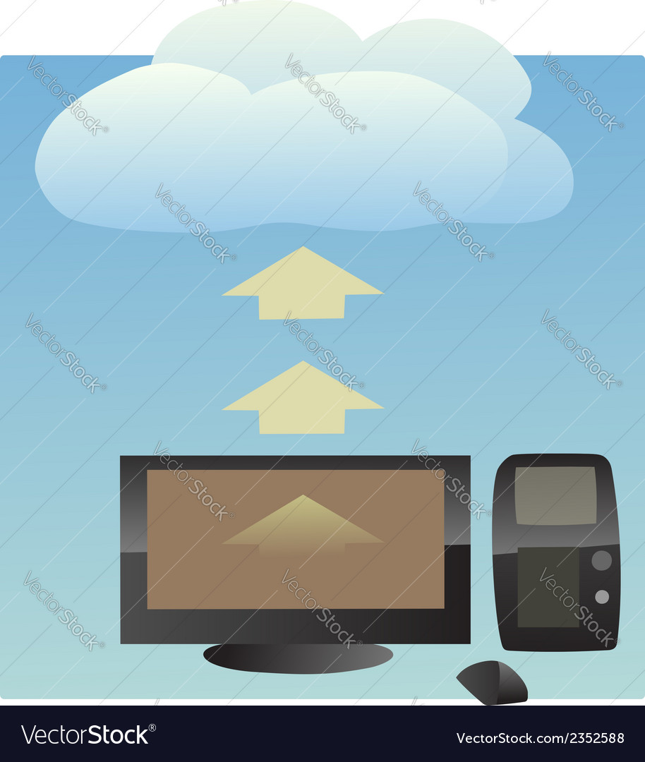 Cloud uploading vector | Price: 1 Credit (USD $1)