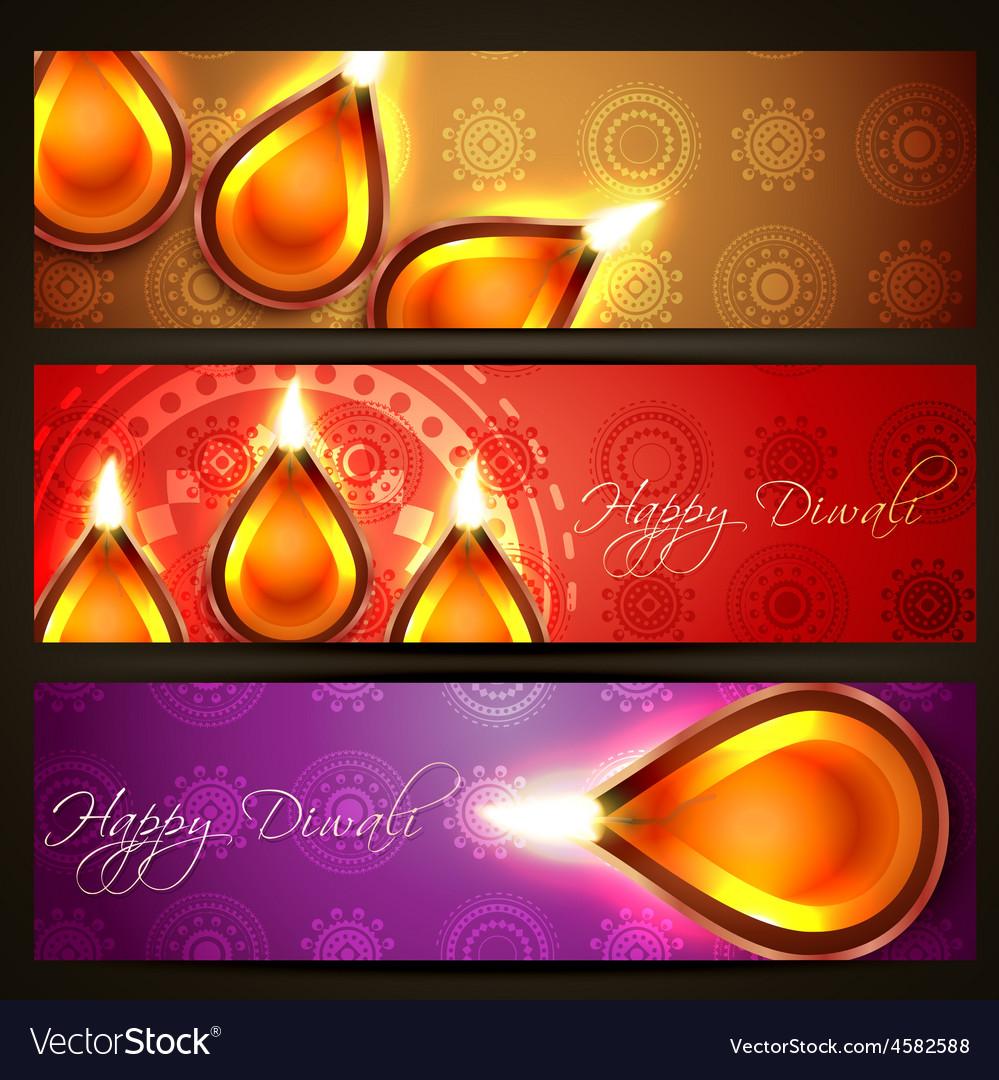Diwali headers vector | Price: 1 Credit (USD $1)