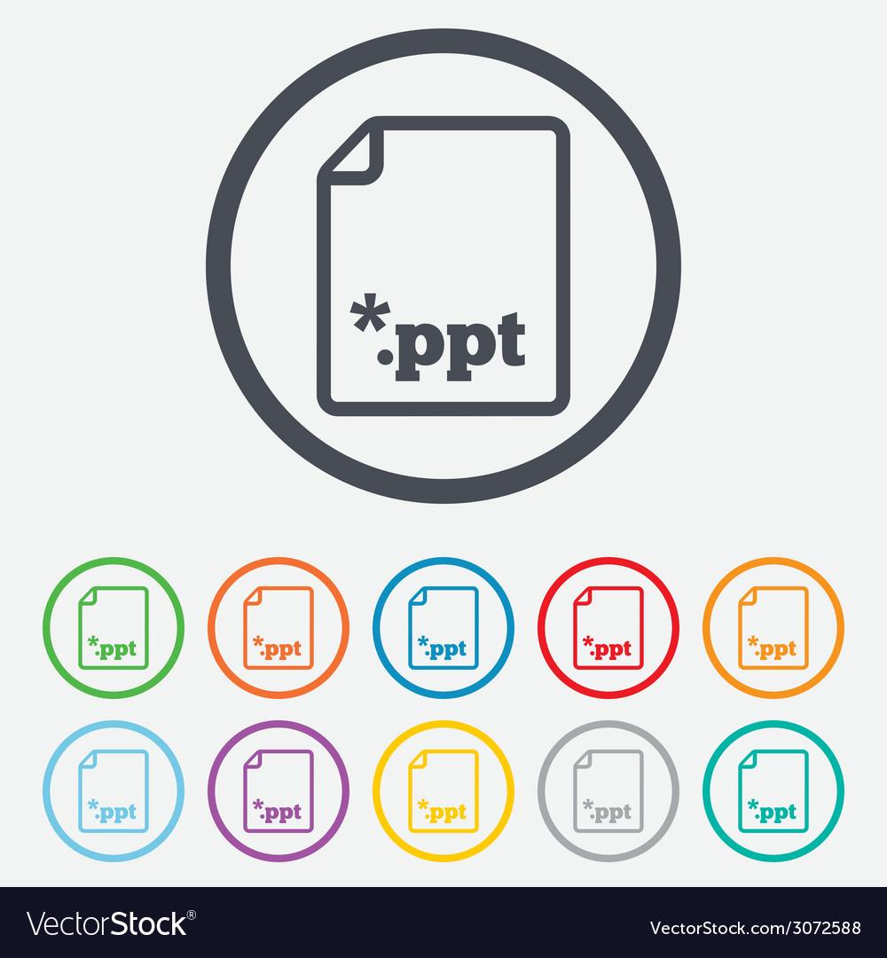 File presentation icon download ppt button vector | Price: 1 Credit (USD $1)