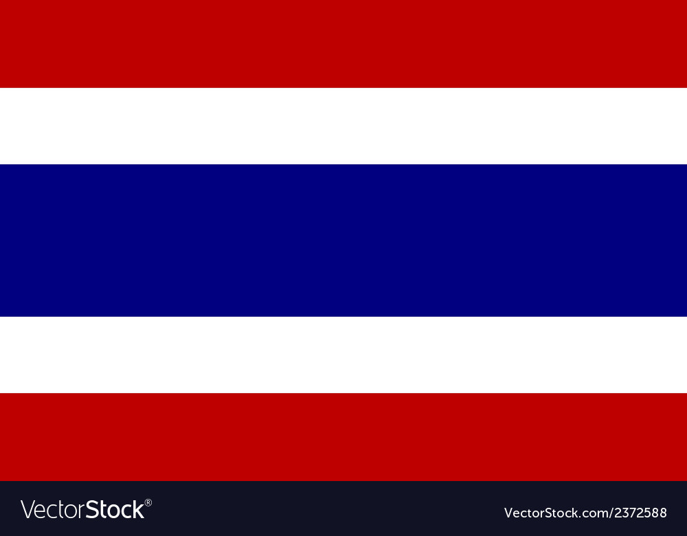 Flag of thailand vector | Price: 1 Credit (USD $1)