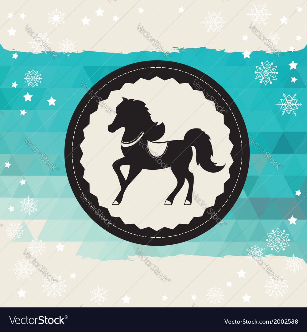 Poster horse vector | Price: 1 Credit (USD $1)
