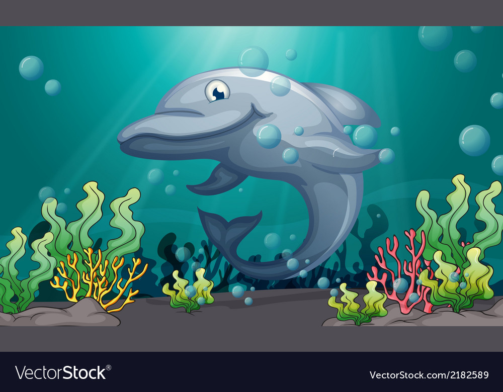 A shark under the sea vector | Price: 1 Credit (USD $1)