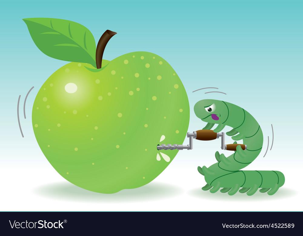 Drilling apple vector   Price: 1 Credit (USD $1)
