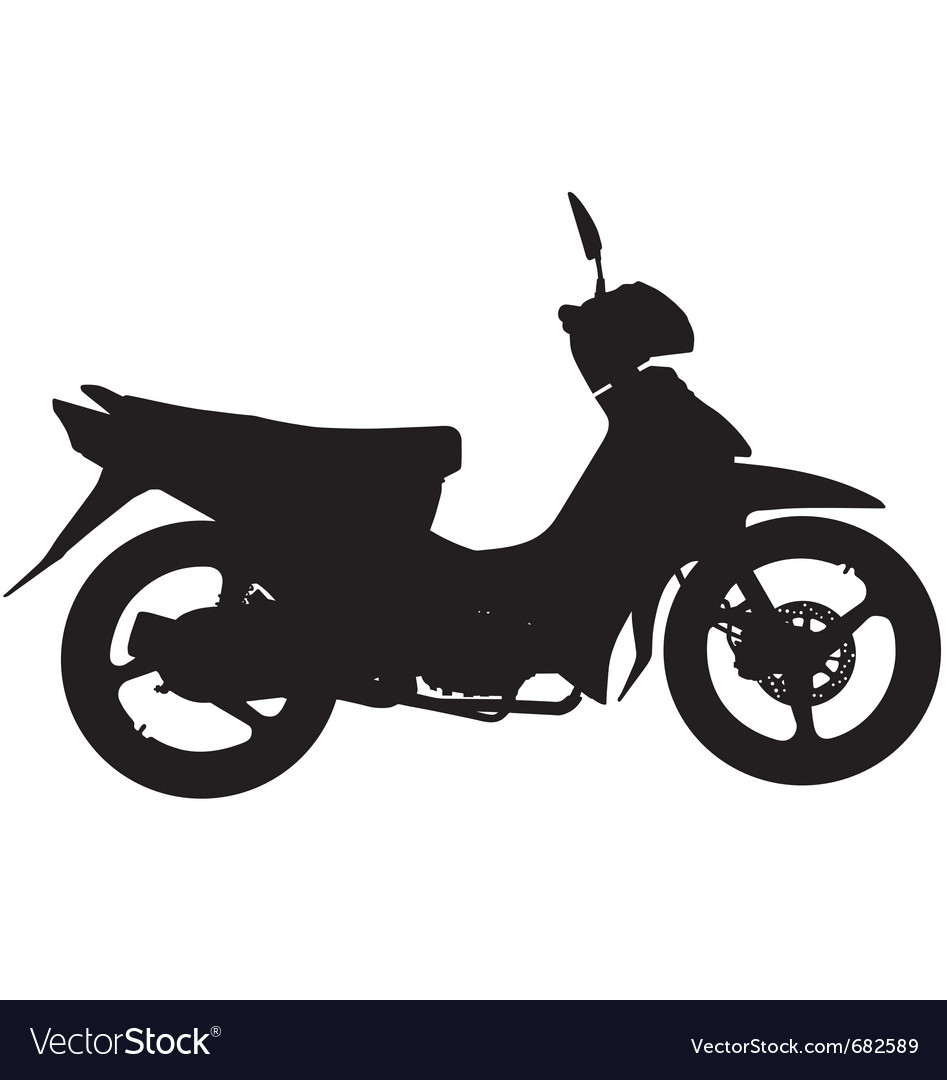 Moped silhouette vector | Price: 1 Credit (USD $1)