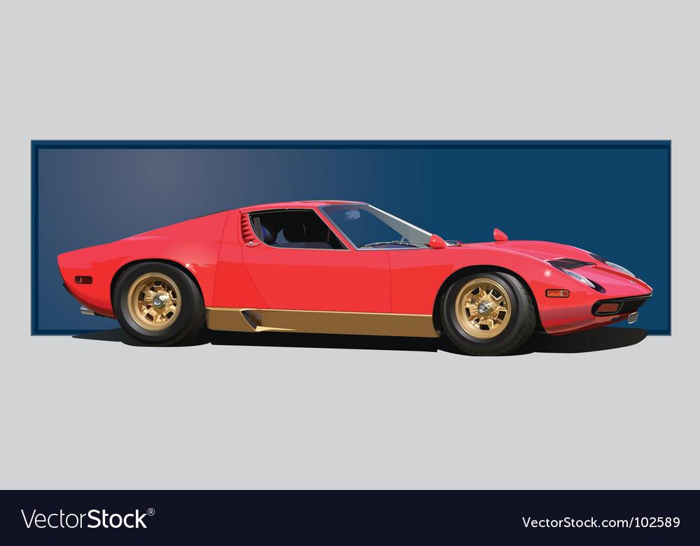 Sixties sports car vector | Price: 3 Credit (USD $3)