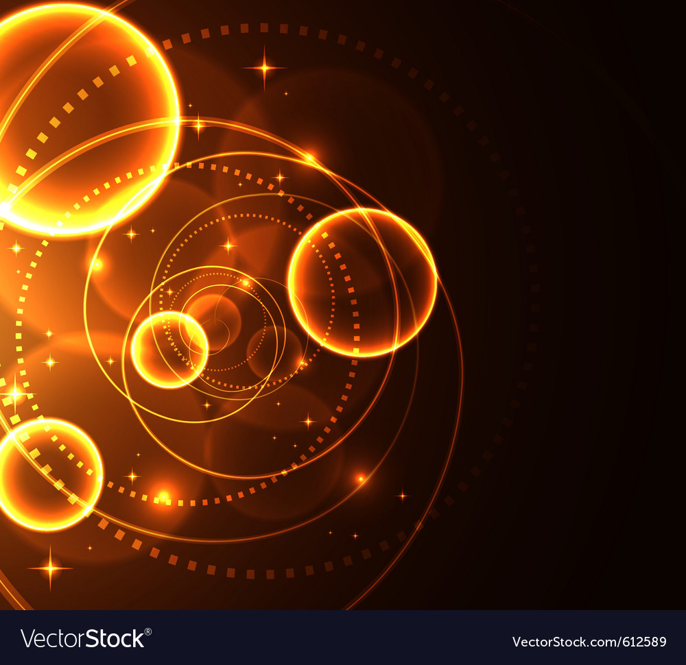 Stylized glowing background with digital symbols vector   Price: 1 Credit (USD $1)