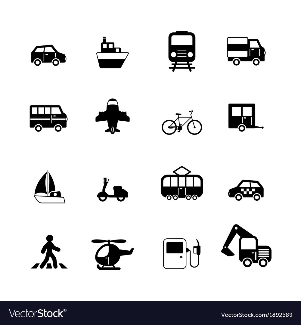 Transportation pictograms collection vector   Price: 1 Credit (USD $1)