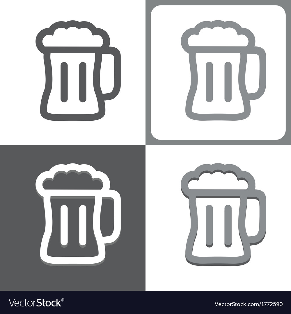 Beer mug icon vector | Price: 1 Credit (USD $1)