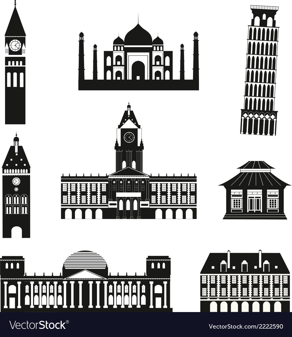Black travel icons vector | Price: 1 Credit (USD $1)