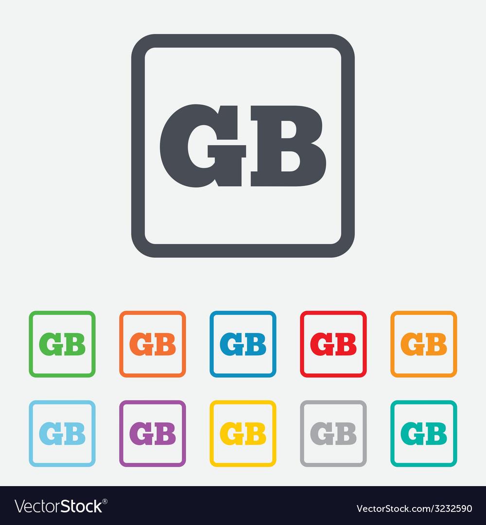 British language sign icon gb translation vector   Price: 1 Credit (USD $1)