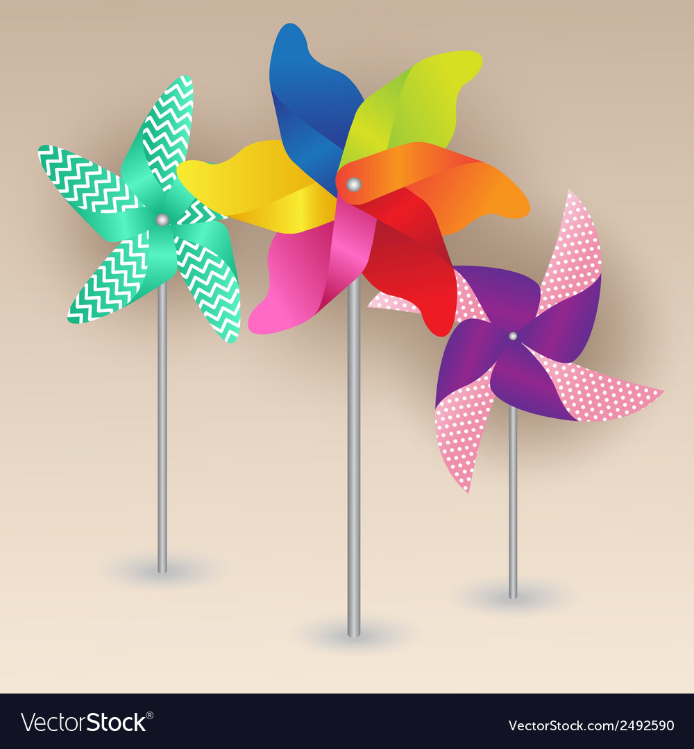 Colorful pinwheels design vector | Price: 1 Credit (USD $1)