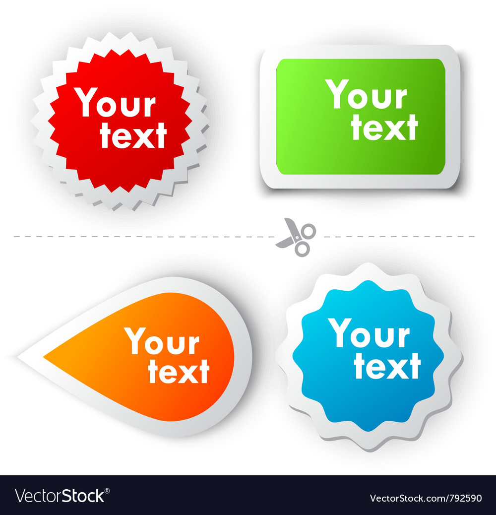 Colorful sticker for text vector   Price: 1 Credit (USD $1)