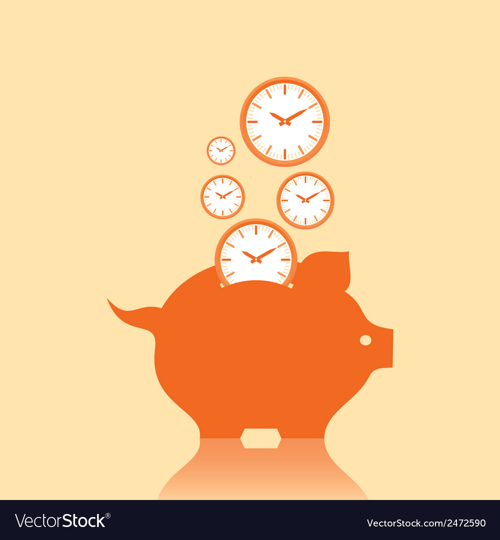 Save money concept with piggy bank stock vector   Price: 1 Credit (USD $1)
