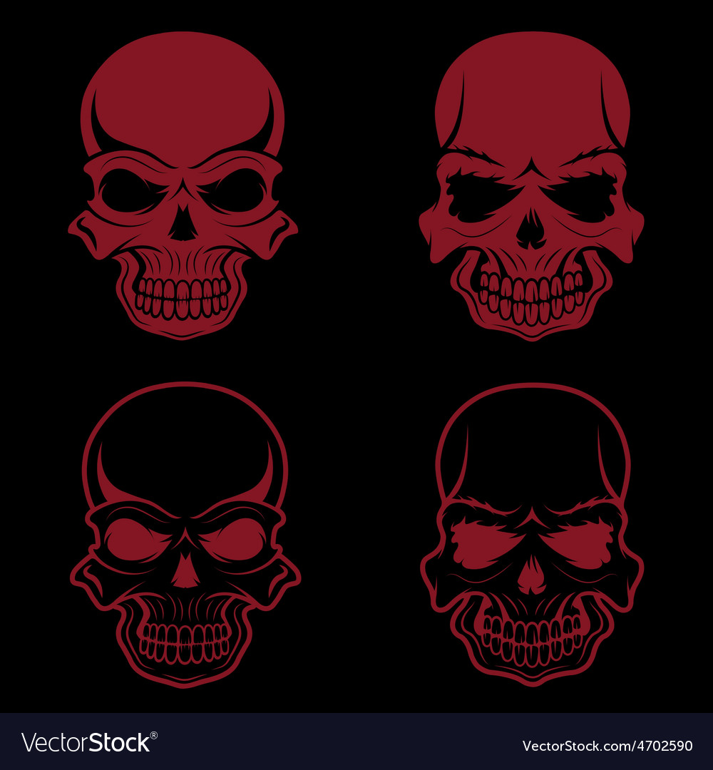 Set of skulls design template vector | Price: 1 Credit (USD $1)