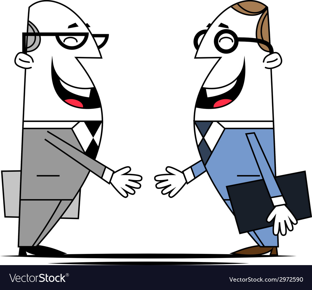 Two businessman vector | Price: 1 Credit (USD $1)