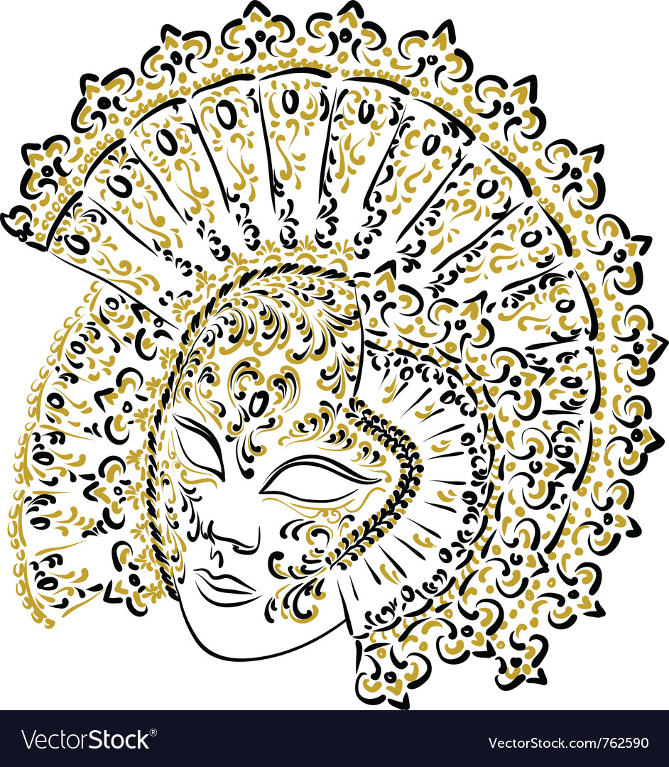 Venetian carnival mask vector | Price: 1 Credit (USD $1)