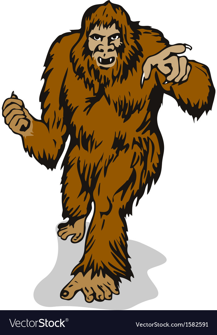 Big foot pointing vector | Price: 1 Credit (USD $1)