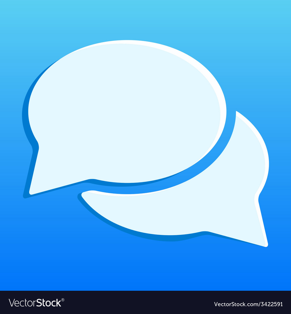 Blue chat icon vector | Price: 1 Credit (USD $1)