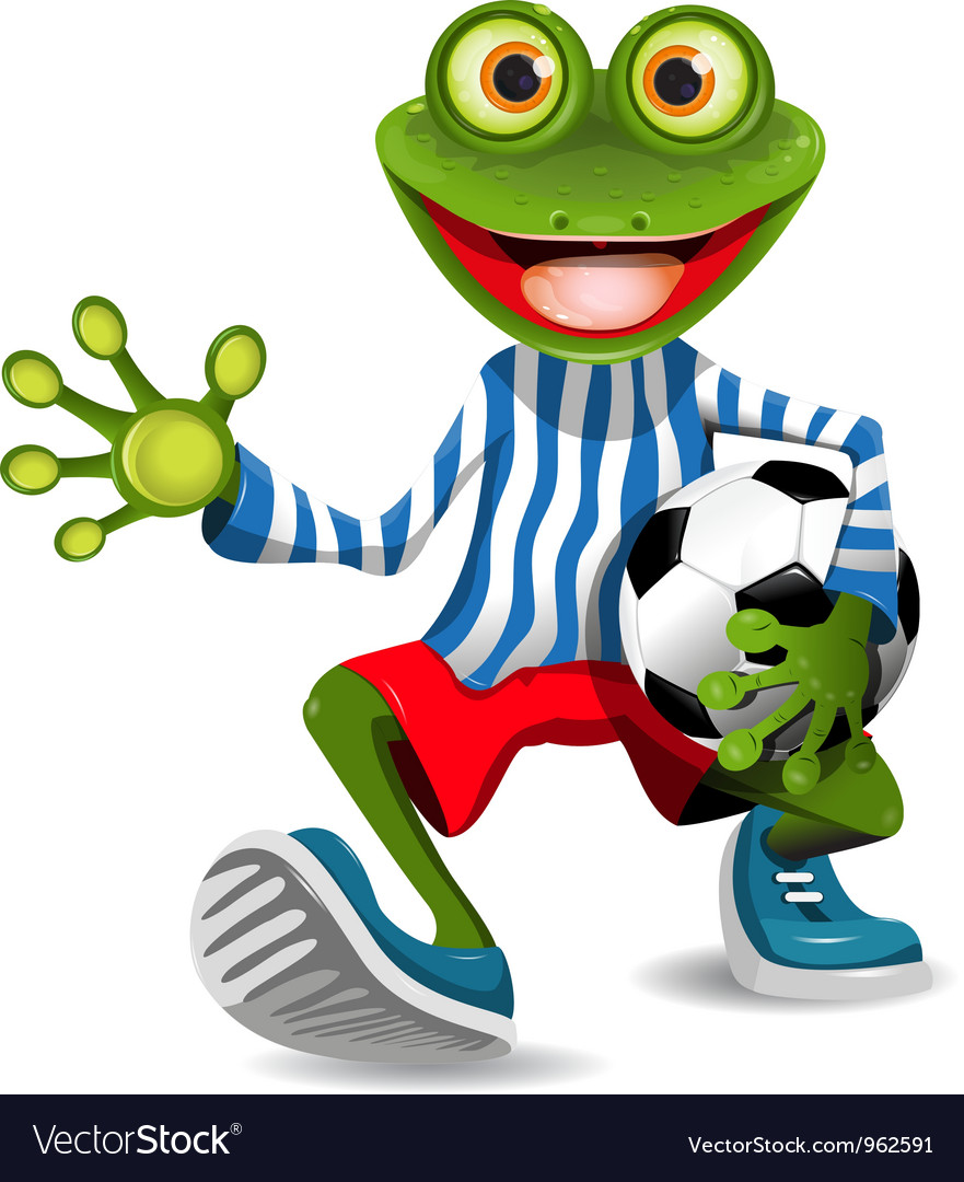 Frog football player vector | Price: 3 Credit (USD $3)