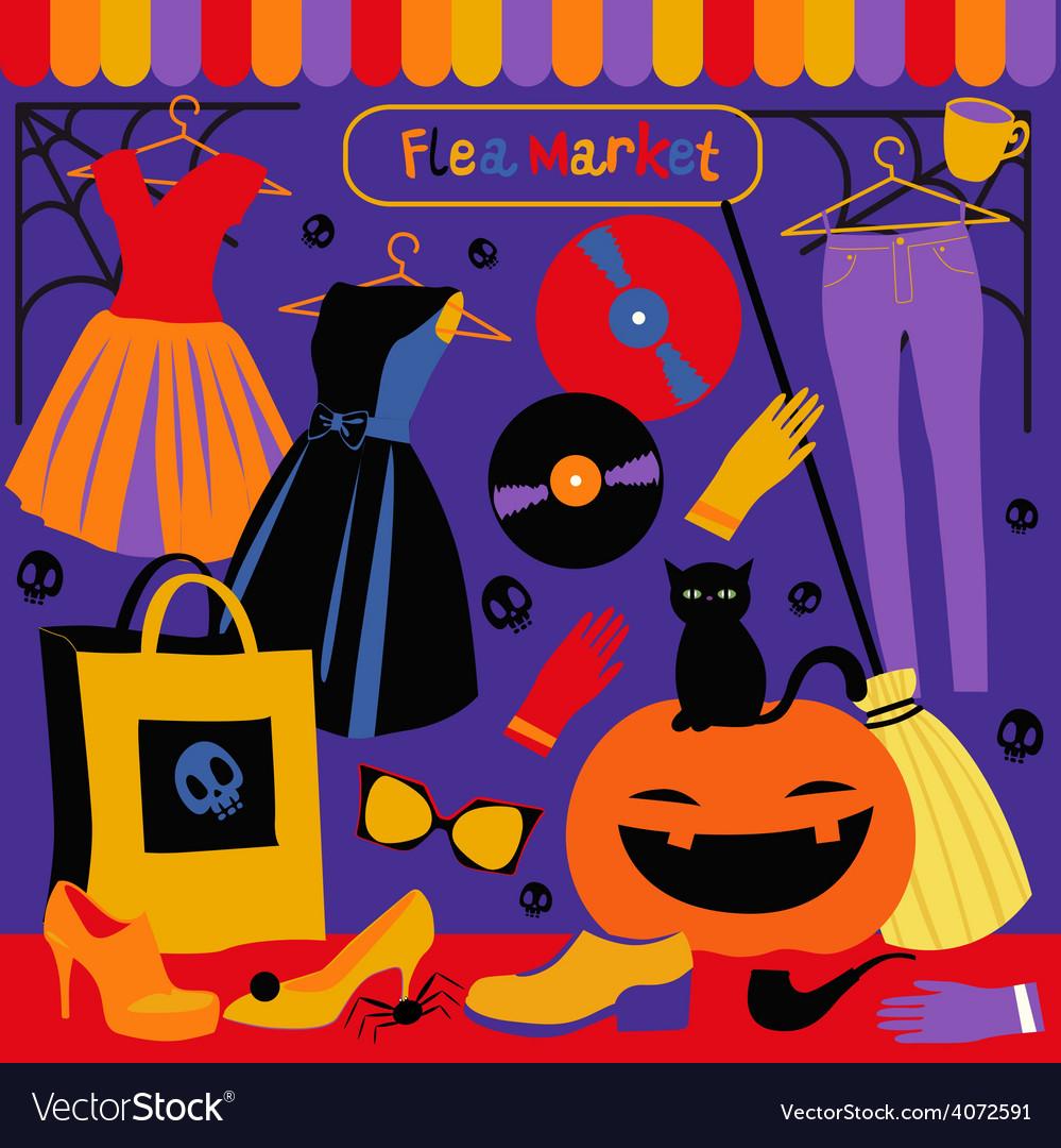 Halloween holiday market vector   Price: 1 Credit (USD $1)