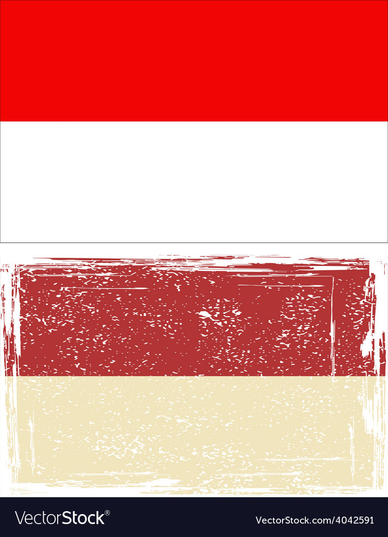 Indonesian grunge flag vector | Price: 1 Credit (USD $1)