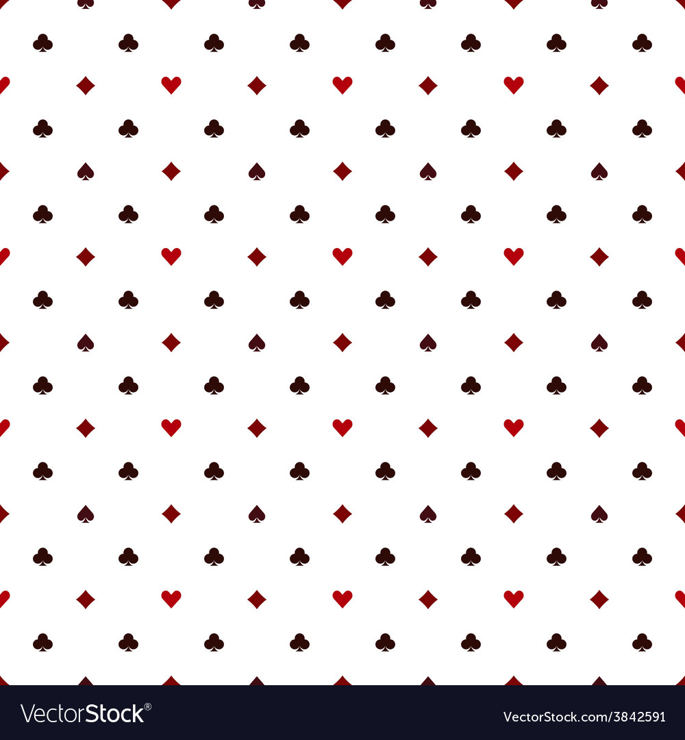 Seamless poker pattern with card suits vector | Price: 1 Credit (USD $1)