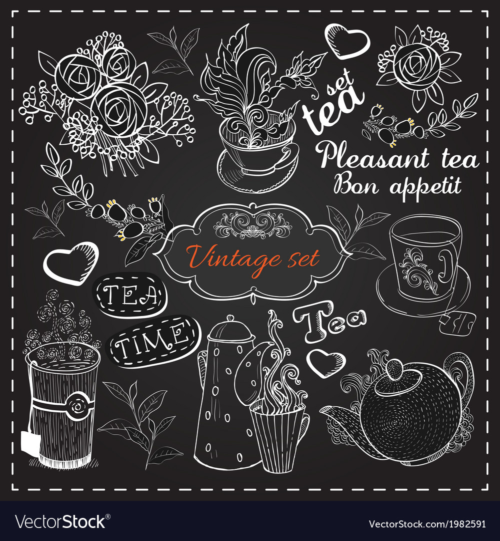 Set of tea collection vector | Price: 1 Credit (USD $1)